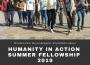 POZIV ZA DOSTAVLJANJE PRIJAVA ZA UČEŠĆE  NA HUMANITY IN ACTION LJETNIM PROGRAMIMA 2019