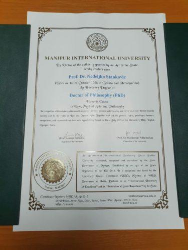 Počasni doktorat za akademika Nedeljka Stankovića