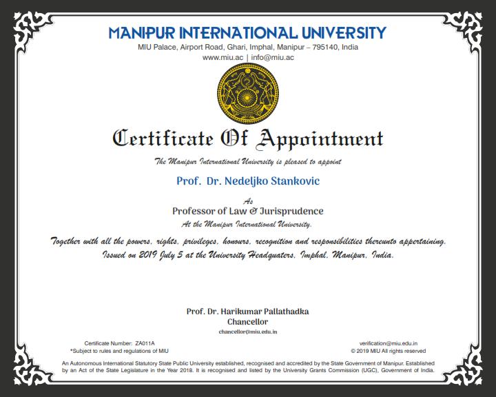 Dr Stankovic MIU Prof 001